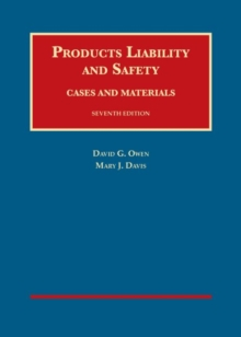 Image for Products liability and safety