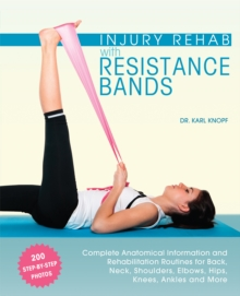 Image for Injury rehab with resistance bands  : complete anatomy and rehabilitation programs for back, neck, shoulders, elbows, hips, knees, ankles and more