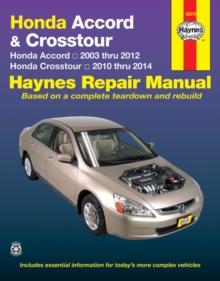 Image for Honda Accord and Crosstour automotive repair manual  : 2003-2014