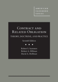 Image for Contract and related obligation  : theory, doctrine, and practice