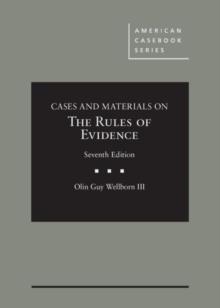 Image for Cases and materials on the rules of evidence