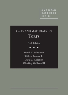 Image for Cases and Materials on Torts