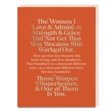 Image for Elizabeth Gilbert The Women I Love and Admire Card (Pack of 6)