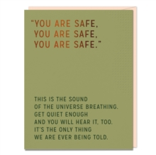 Image for Elizabeth Gilbert You Are Safe Card (Pack of 6)