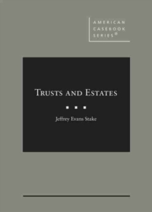 Image for Trusts, Estates, and Other Forms of Succession