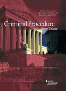 Image for Criminal Procedure, Investigating Crime