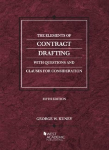 Image for The Elements of Contract Drafting