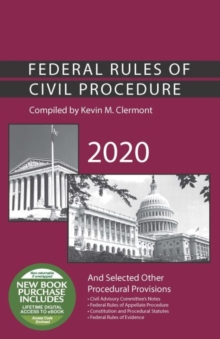 Image for Federal Rules of Civil Procedure and Selected Other Procedural Provisions, 2020
