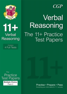 Image for 11+ Verbal Reasoning Practice Papers: Multiple Choice - Pack 2 (for GL & Other Test Providers)
