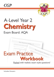 Image for A-Level Chemistry: AQA Year 2 Exam Practice Workbook - includes Answers