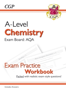 Image for A-Level Chemistry: AQA Year 1 & 2 Exam Practice Workbook - includes Answers
