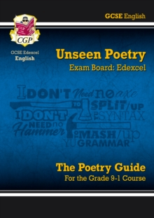 Image for GCSE English Edexcel unseen poetry guide