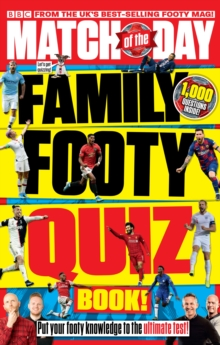 Image for Match of the Day magazine family footy quiz book!