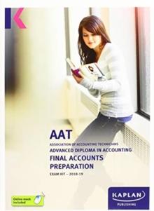 Image for AAT AQ2016 final accounts preparation: Exam kit