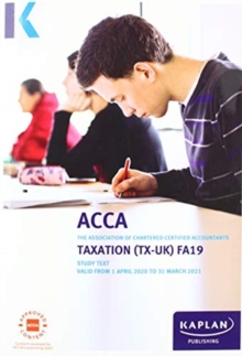 Image for TAXATION (TX-UK) (FA19) - STUDY TEXT