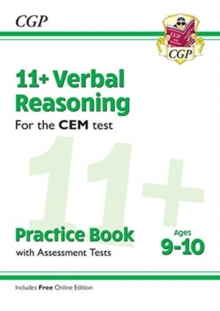 Image for 11+ CEM Verbal Reasoning Practice Book & Assessment Tests - Ages 9-10 (with Online Edition)