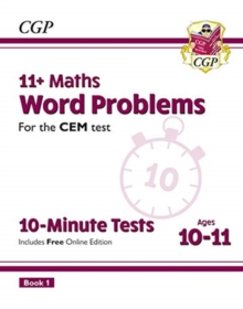 Image for 11+ CEM 10-Minute Tests: Maths Word Problems - Ages 10-11 Book 1 (with Online Edition)