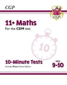 Image for 11+ CEM 10-Minute Tests: Maths - Ages 9-10 (with Online Edition)