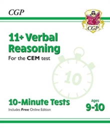 Image for 11+ CEM 10-Minute Tests: Verbal Reasoning - Ages 9-10 (with Online Edition)