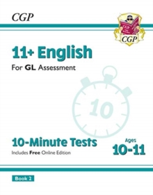 Image for New 11+ GL 10-Minute Tests: English - Ages 10-11 Book 2 (with Online Edition)