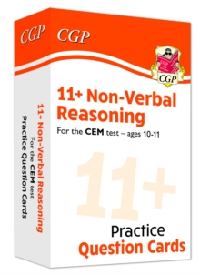 Image for New 11+ CEM Non-Verbal Reasoning Practice Question Cards - Ages 10-11