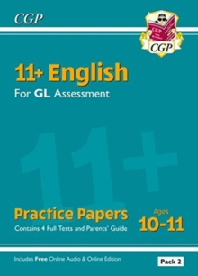 Image for 11+ GL English Practice Papers: Ages 10-11 - Pack 2 (with Parents' Guide & Online Edition)