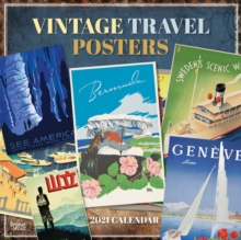 Image for VINTAGE TRAVEL POSTERS 2021 SQUARE BTUK