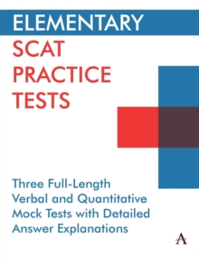 Image for Elementary SCAT practice tests  : three full-length verbal and quantitative mock tests with detailed answer explanations
