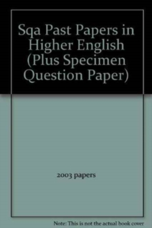 H ENGLISH SQA PAST PAPERS 2000 TO 2003 - LECKIE AND LECKIE