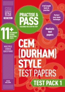 Practise and pass 11+Test pack 1: CEM test papers - Williams, Peter
