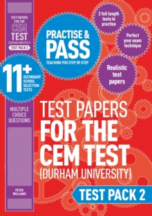 Practise and pass 11+Test pack 2: CEM test papers - Williams, Peter