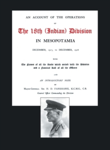 Image for Account of the Operations of the 18th (Indian) Division in Mesopotamia, December 1917 to December 1918