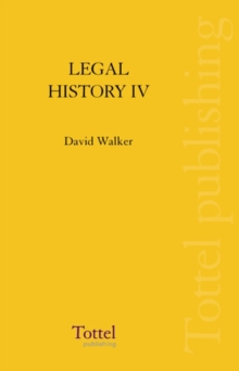 Image for Legal History of Scotland : The Seventeenth Century
