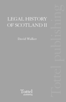 Image for Legal History of Scotland : The Later Middle Ages
