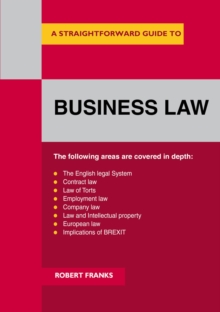 Image for A Straightforward guide to business law