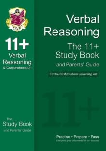 Image for 11+ Verbal Reasoning Study Book and Parents' Guide for the CEM Test
