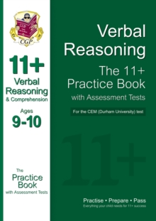 Image for 11+ Verbal Reasoning Practice Book with Assessment Tests (Ages 9-10) for the Cem Test