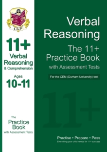 Image for 11+ Verbal Reasoning Practice Book with Assessment Tests (Ages 10-11) for the Cem Test