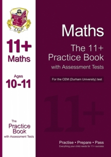Image for 11+ Maths Practice Book with Assessment Tests (Age 10-11) for the CEM Test