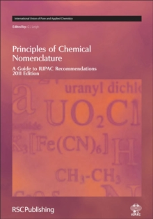 Image for Principles of chemical nomenclature  : a guide to IUPAC recommendations