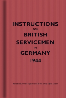 Image for Instructions for British servicemen in Germany, 1944