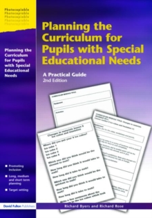 Image for Planning the curriculum for pupils with special educational needs  : a practical guide