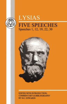 Image for Five speeches  : speeches 1, 12, 19, 22, 30