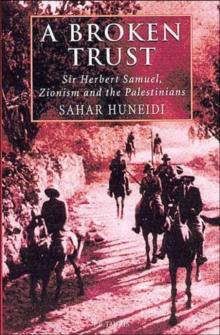 Image for A broken trust  : Sir Herbert Samuel, Zionism and the Palestinians