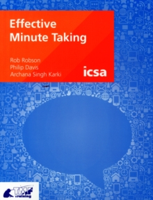 Image for Effective minute taking