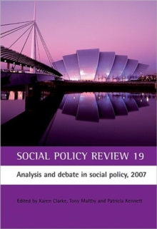 Image for Social policy review19: Analysis and debate in social policy, 2007