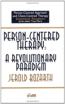 Image for Person-centered therapy  : a revolutionary paradigm