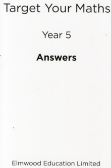 Image for Target Your Maths Year 5 Answer Book