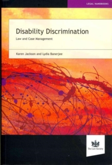 Image for Disability discrimination  : law and practice