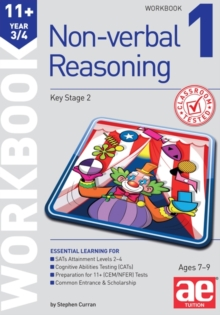 Image for 11+ Non-Verbal Reasoning Year 3/4 Workbook 1 : Including Multiple Choice Test Technique